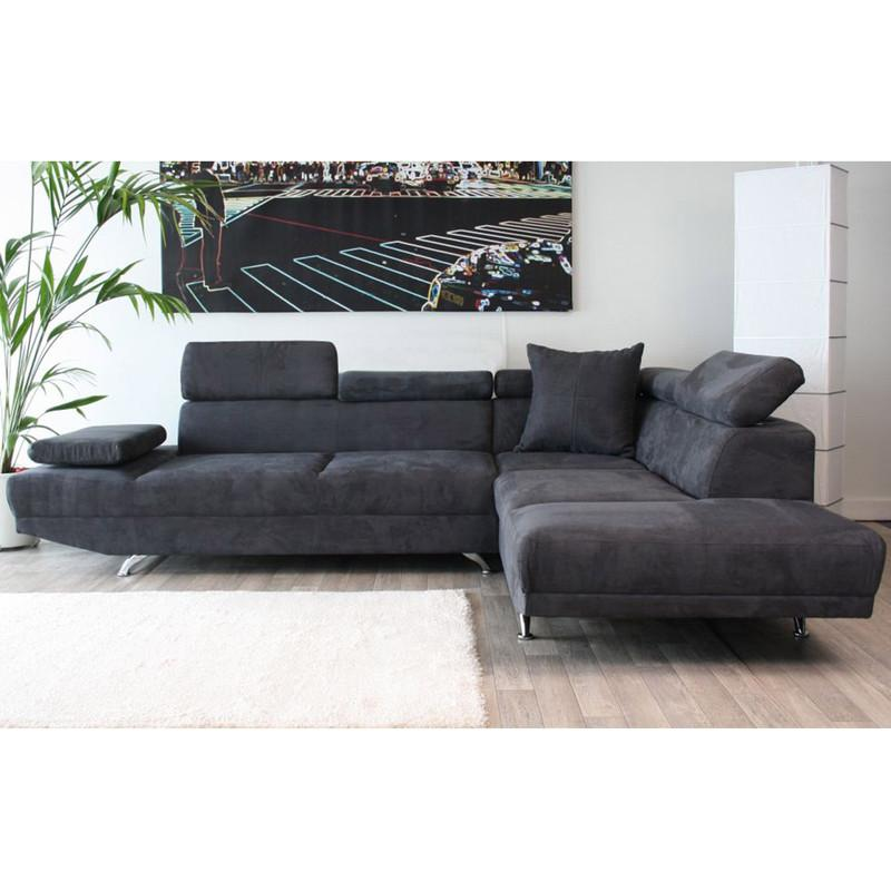 Canape angle gris anthracite