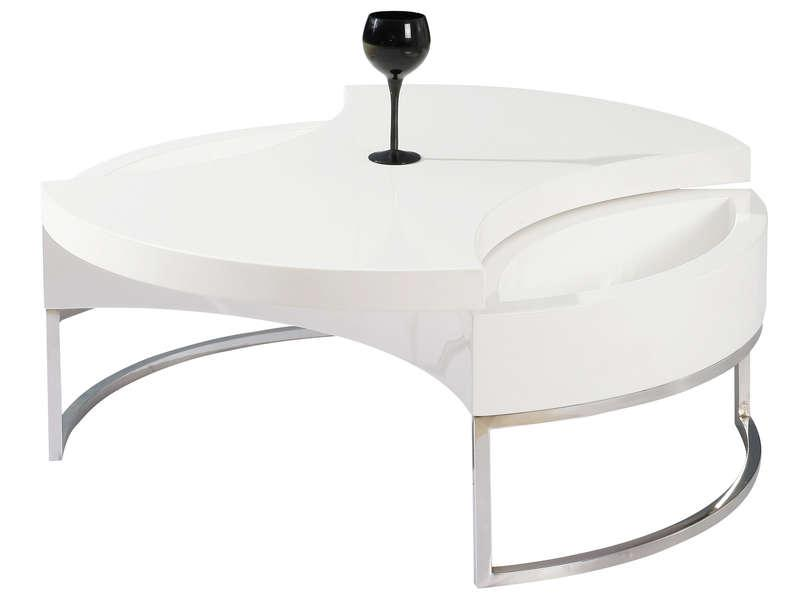 Conforama table basse ronde - Firstcdiscount