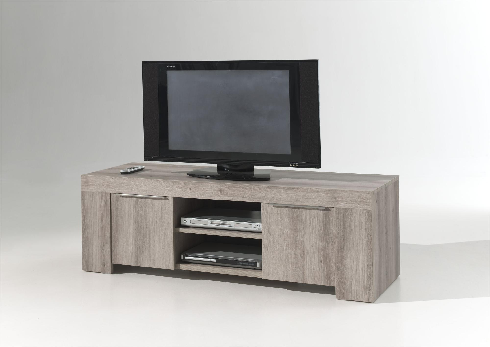 Meuble Tv Chene Contemporain Firstcdiscount # Meuble Tv Angle Chene Massif