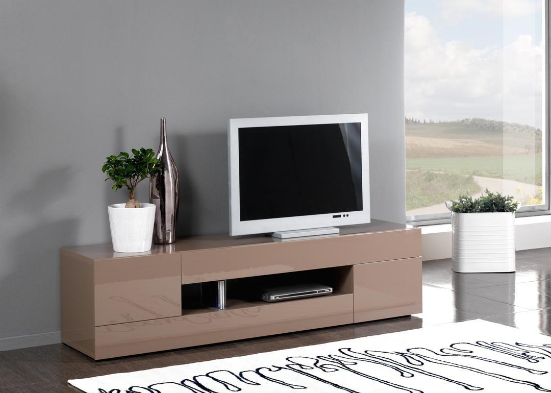 Meuble Tv Laqu Taupe Et Beige Firstcdiscount # Meuble Tv Blanc Taupe
