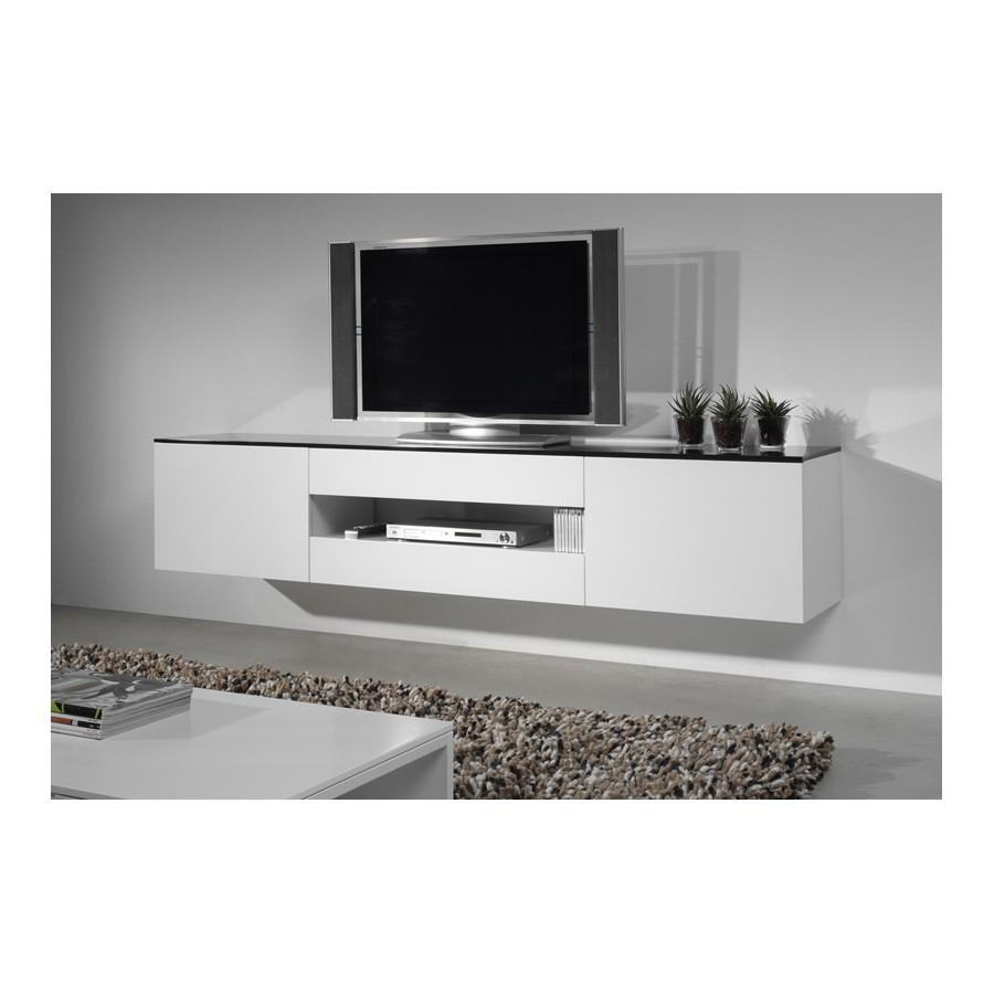 Meuble Tv Suspendu Alinea Firstcdiscount # Meuble Tv Noir Alinea